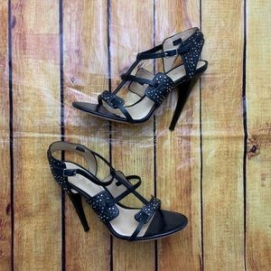 L.A.M.B Studded stiletto strappy sandal heels
